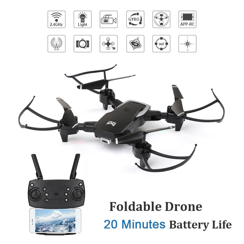 Drone x pro 2.4G WIFI FPV 1080P HD Camera Dual RC Quadcopter Drone with box gift