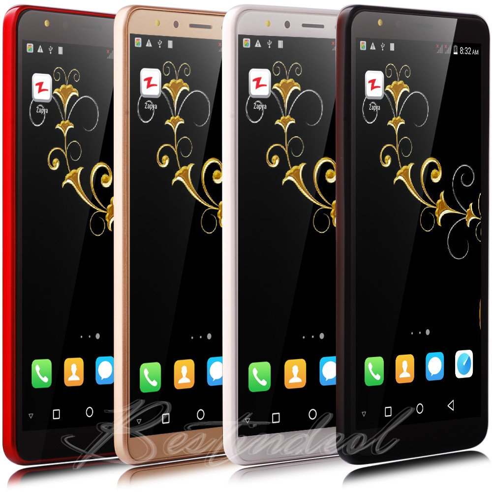 Mobile Phones Unlocked Android 8.1 Cheap 5.5″ Dual SIM Free Smartphone Quad Core