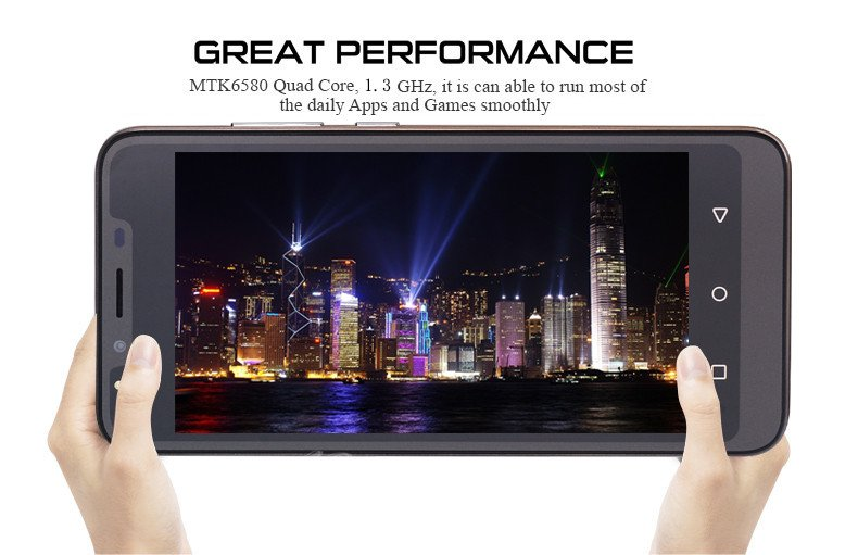 Cheap Unlocked 5.0″ Android 8.1 Mobile Smart Phone Quad Core Dual SIM WiFi GPS