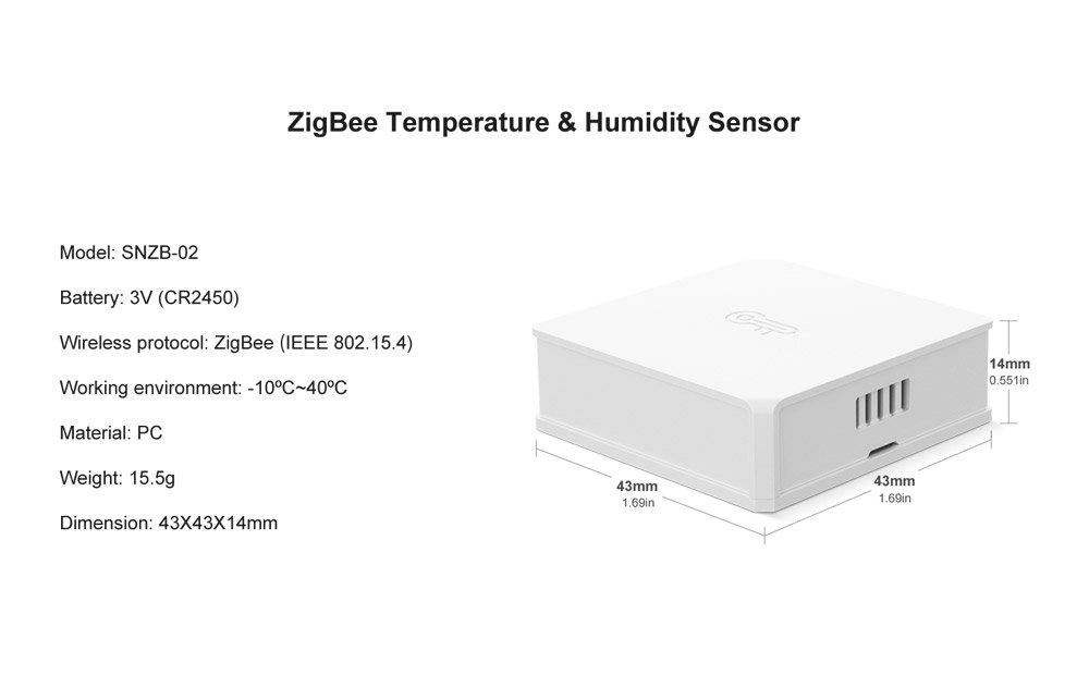 Sonoff Smart Home ZigBee Bridge Temperature Humidity Motion Door Window Sensor