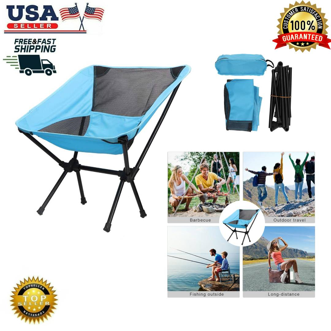 Portable Folding Chair Lightweight Outdoor Fishing Camping H